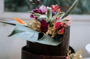 Bolos de casamento com inspiração tropical
