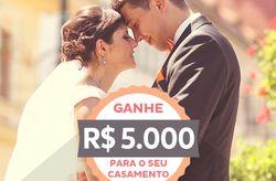 R$5.000,00 para organizar o seu casamento