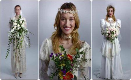 100 anos de vestido de noiva