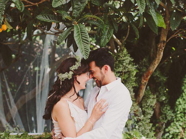 Casamento de Eva e David: tudo branco