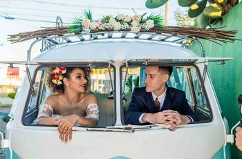 O casamento de Ana Paula e Sérgio: ar retrô e romantismo