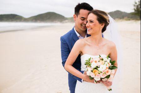 Look de noiva para casamento na praia