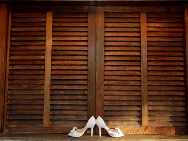 Sapato branco para a noiva