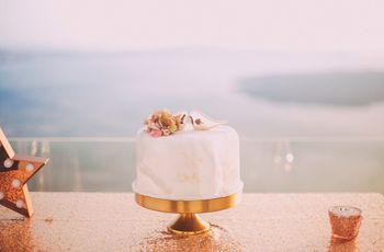 Bolo de casamento simples: minimalismo com charme