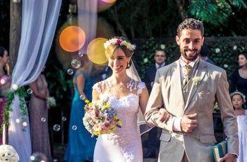 """O casamento de Caio e Bruna: um """"sim"""" romântico e cheio de cores"""
