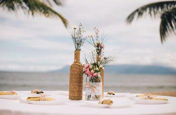 33 Centros de mesa para casamentos rústicos