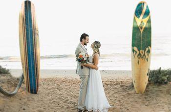 Ideias para um casamento surfer