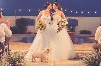 """O mini wedding de Michele e Yasmin: """"sim"""" íntimo e com estilo"""