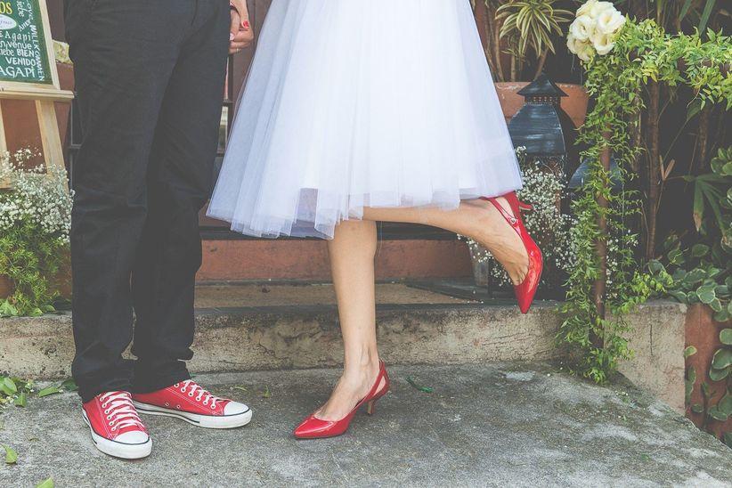 c12e9c420 Sapato vermelho para noivas