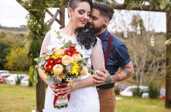 O casamento de Jaqueline e Joe: um encontro de fé e amor