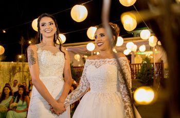 O casamento de Andreia e Louise: quando o amor acontece