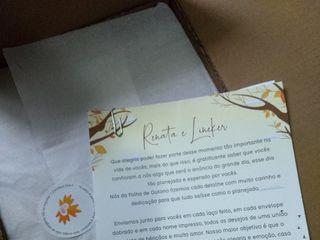 Folha de Outono Convites Personalizados 1