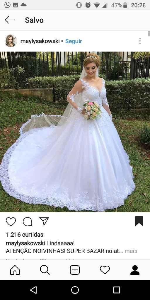 Quando posso escolher o vestido? - 1