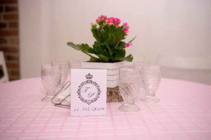 1. Decoração (mesa dos convidados)