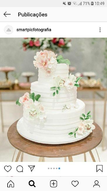 Cascata de flores no bolo: pego, penso ou passo? - 1