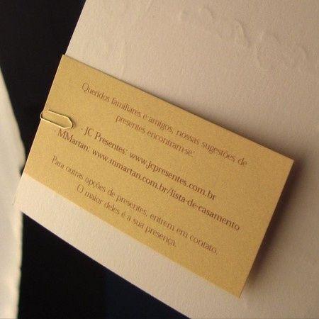 Colocar Uma Sugestão De Presente No Convite De Casamento