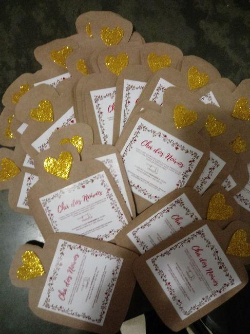Convites chá dos noivos #diy - 1