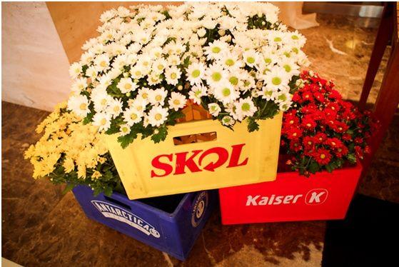 decoracao o boteco : decoracao o boteco:Caixa de bebidas com flores ♥ Lindo