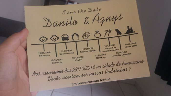 Diy save the date faa voc mesmo reserve a data pr convites junglespirit Gallery