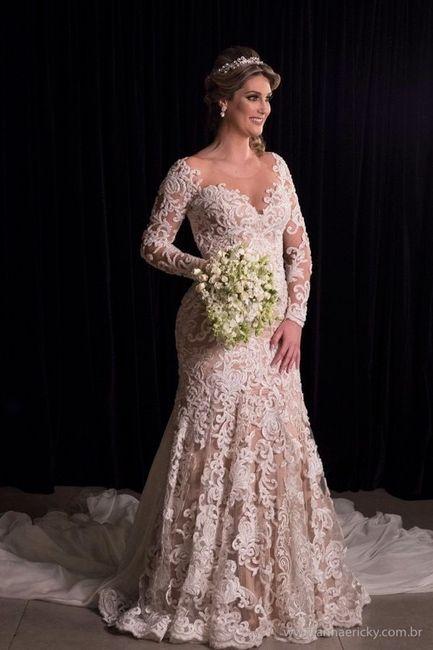 Vestido de noiva com forro nude.o que acham?