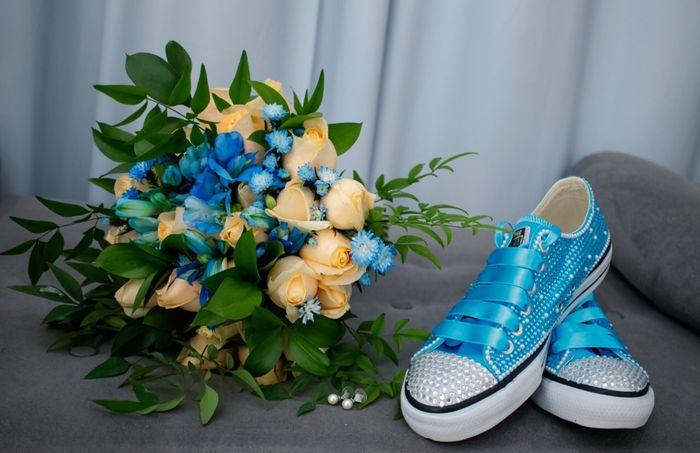 Buquê e sapato azul! 💙 1