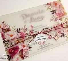convite floral em papel vegetal
