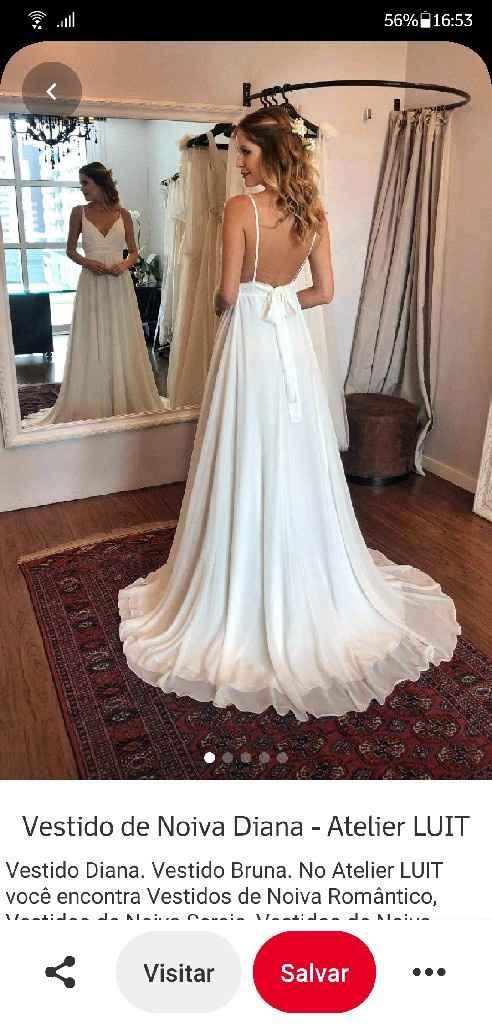 Vestido de noiva para casamento de manhã - 1