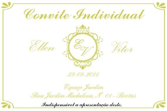 Convite Individual - Inspiração
