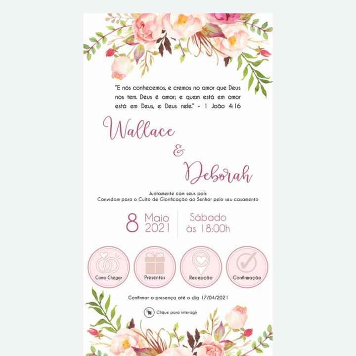 Convite virtual interativo 😍 - 1
