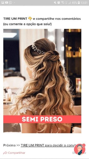 TIRE UM PRINT para decidir o penteado 3