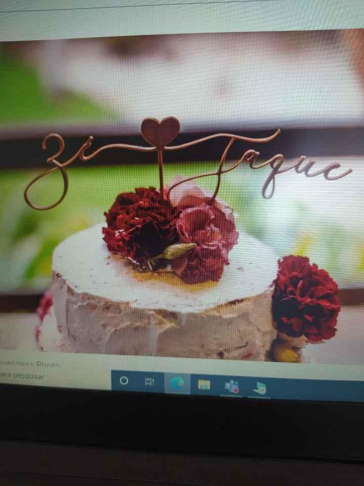 Ajuda fornecedor para topo de bolo escrito - 1