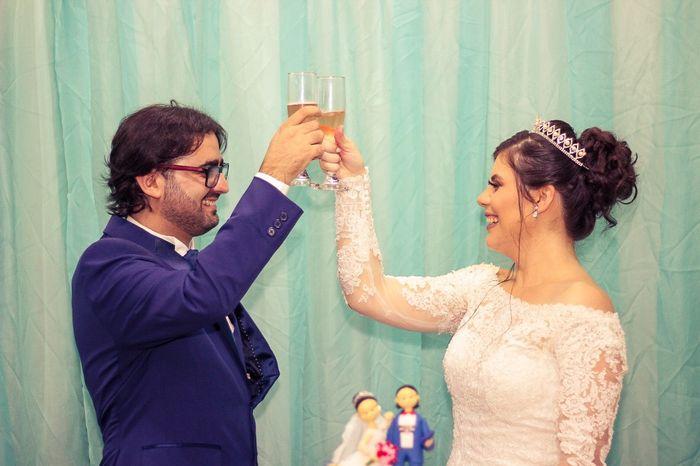 Caseiiiiii! Recepção bolo e champanhe 42