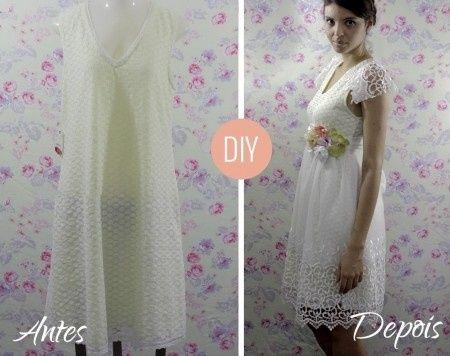 d6f38be621 A hora do vestido! dicas simples de como customizar um criativo vestido de  noiva!