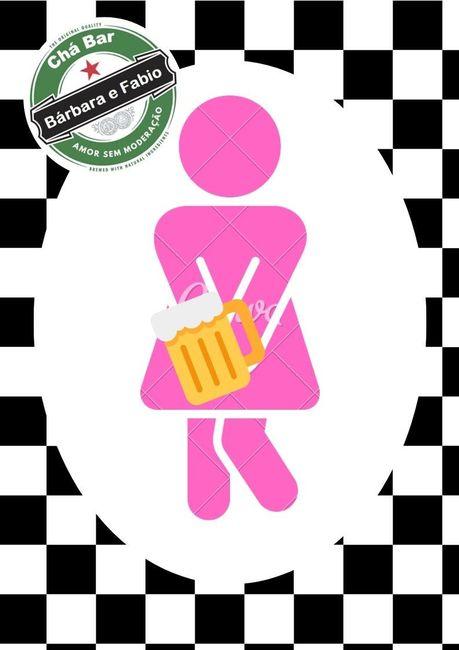 Plaquinha de banheiro Chá Bar Diy #vemver 1