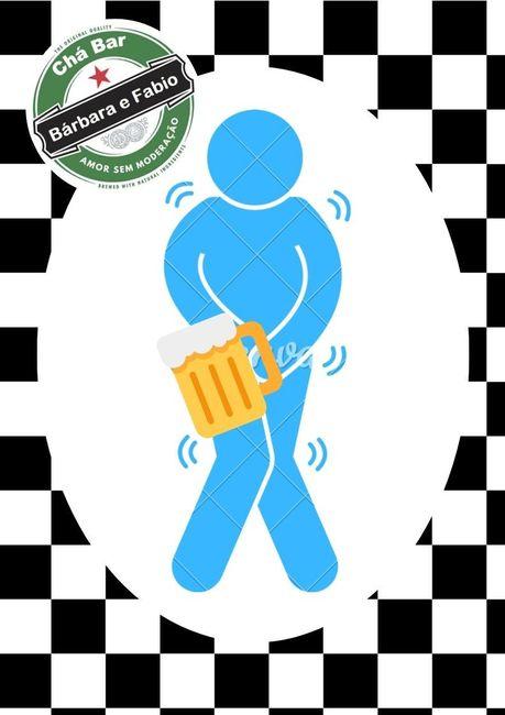 Plaquinha de banheiro Chá Bar Diy #vemver 2