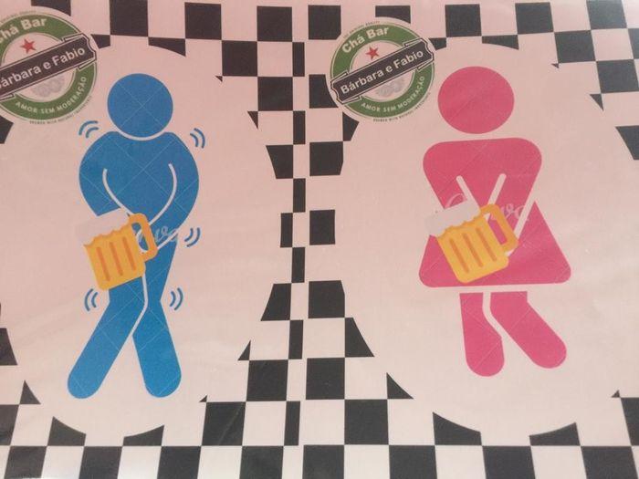Plaquinha de banheiro Chá Bar Diy #vemver 3