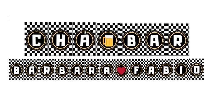 Bandeirinha Chá Bar Diy #vemver 1