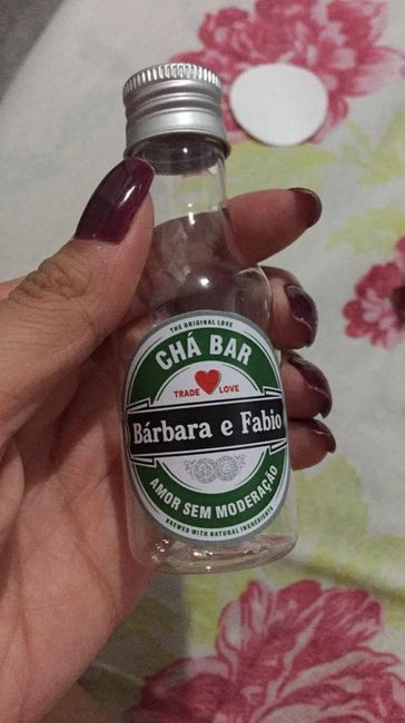 Minha lembrancinha do Chá Bar! 2