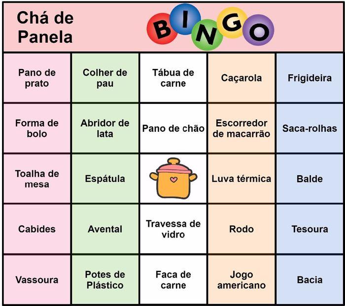 Bingo Para Cha De Panela