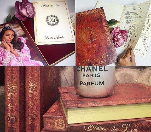 Convite em forma de livro de conto de fadas - Cada escolhido para presenciar o grande dia da famosa