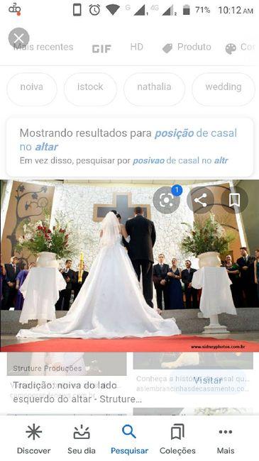 Sabe qual deve ser a posição dos noivos na cerimônia de frente para o altar? 3