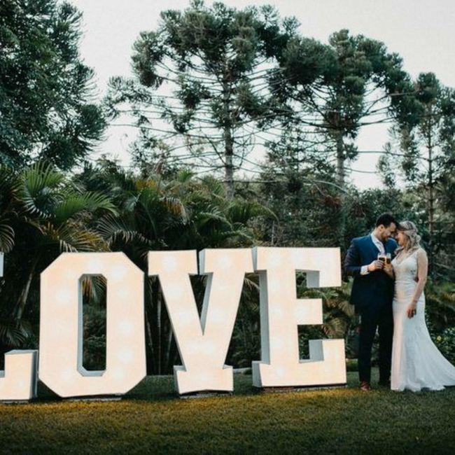Letreiro: love x iniciais 1