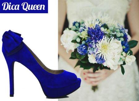 2b268e3e0 Sapatos de noiva combinando com o buquÊ