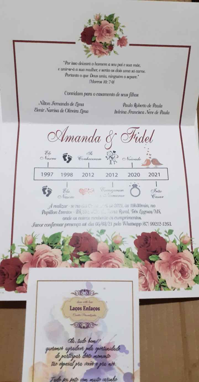 Convite do casamento - 1