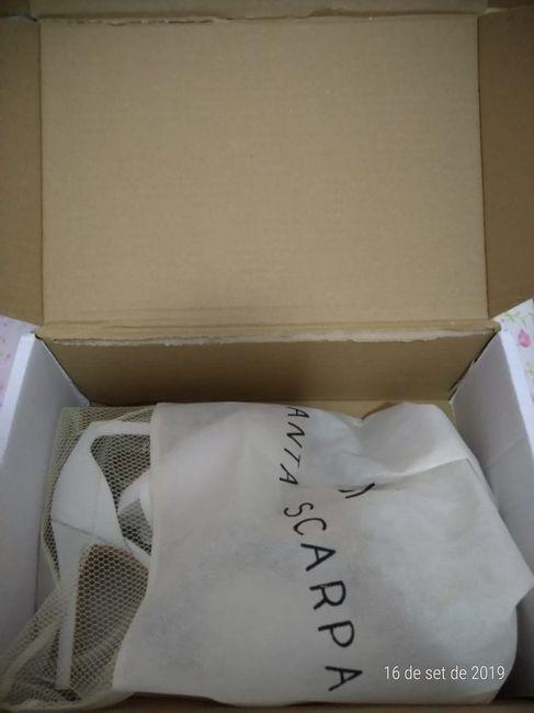 Meu sapato Santa Scarpa chegou! - experiência 2