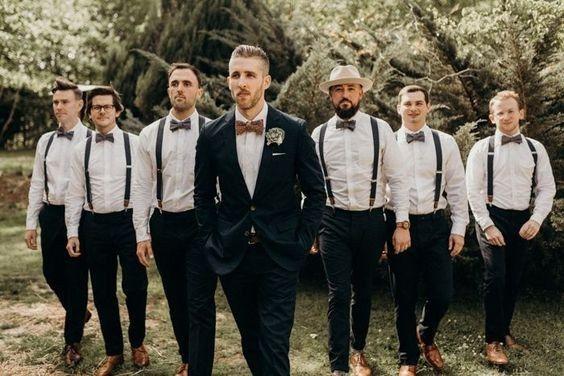Suspensórios e gravatas dos meus padrinhos 1