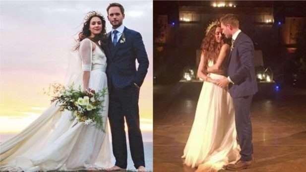 Troian Bellisario usou o vestido de noiva dela para festa do Globo de Ouro 2