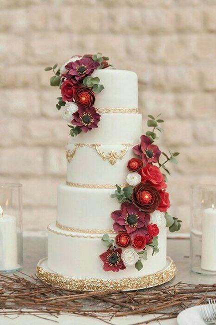 Bolo de casamento marsala ❤ - 5