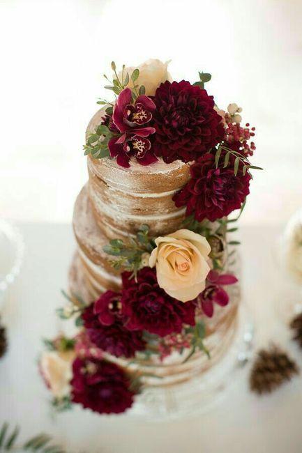 Bolo de casamento marsala ❤ - 8