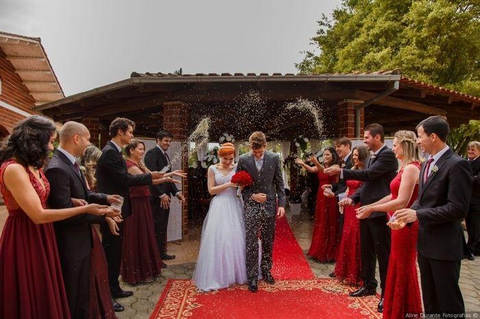 O que será jogado na saída dos noivos? 1